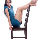 modèle sur une chaise — Photo