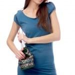 Model in blue dress — Stock Photo #1362629