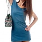 modell i blå klänning — Stockfoto #1362692
