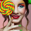 Stock Photo: Girl wit lollipop