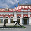 Railroad station - Stock Photo