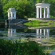Rotunda on the pond — Stock Photo