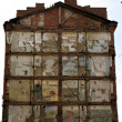 Wall of ruinous building - Stockfoto