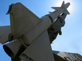 Old russian ballistic missile — Stock Photo