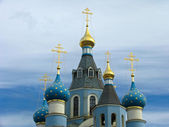 Domes of Orthodox church — Stock Photo