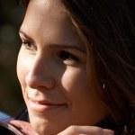 Smiling brunette girl — Stock Photo #1395796