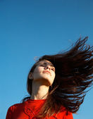 Hairs on the wind — Foto de Stock