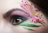 Eye zone body art — Stock Photo