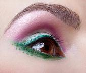 Göz bölgesi vücut sanatı — Stok fotoğraf