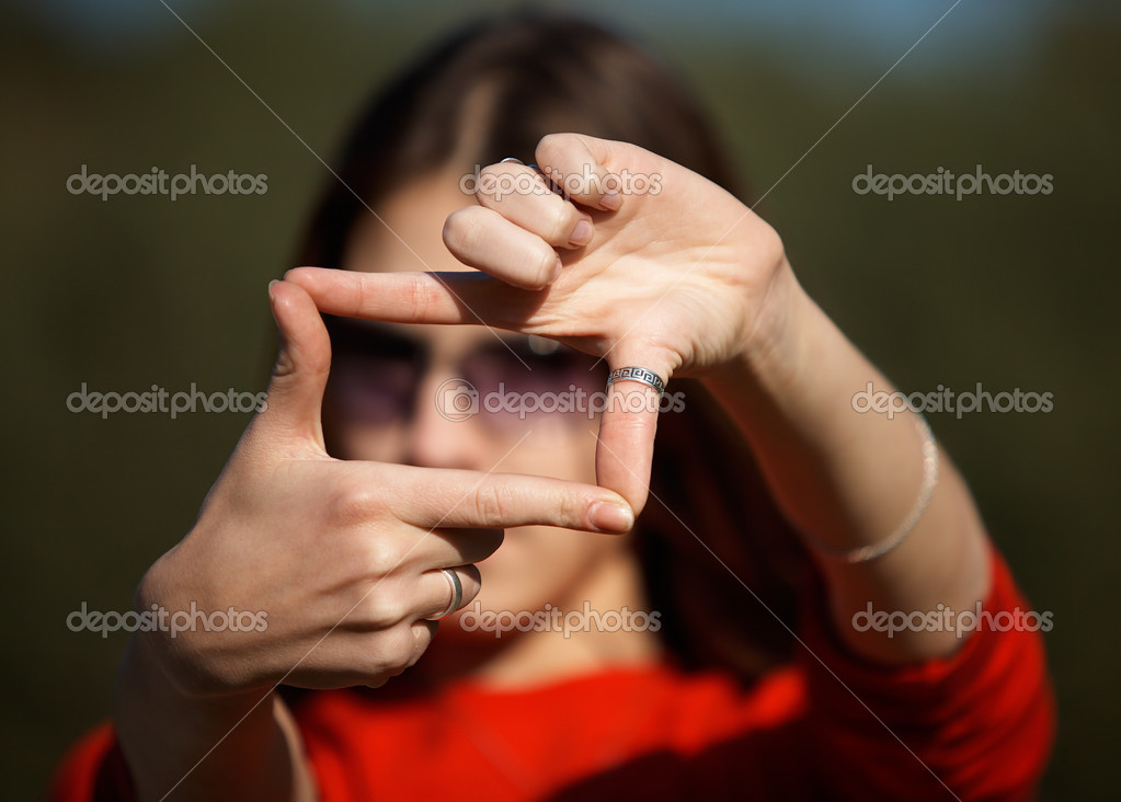 Girl cropping the World — Stock Photo #1395808