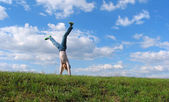 Summer Cartwheel — Stock Photo