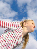 Flight to the clouds — Stock Photo