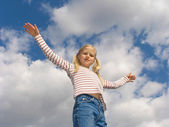 Equilibrium under the clouds — Stock Photo
