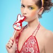 Royalty-Free Stock Photo: Beautiful girl with lollipop