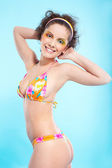 Beautiful girl in bikini — Stock Photo