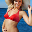Royalty-Free Stock Photo: Blonde in red bikini