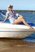 Girl captain — Stock Photo