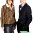 Stock Photo: Businessman and businesswoman