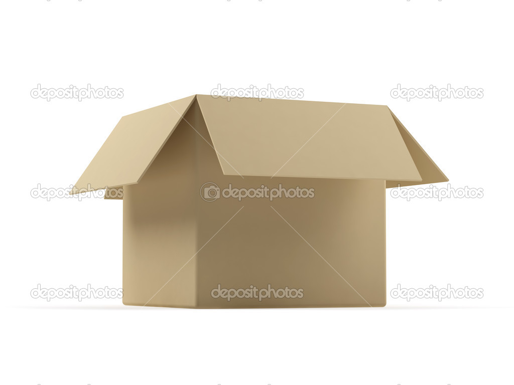 Cardboard box on a white background. — Stock Photo #1388246