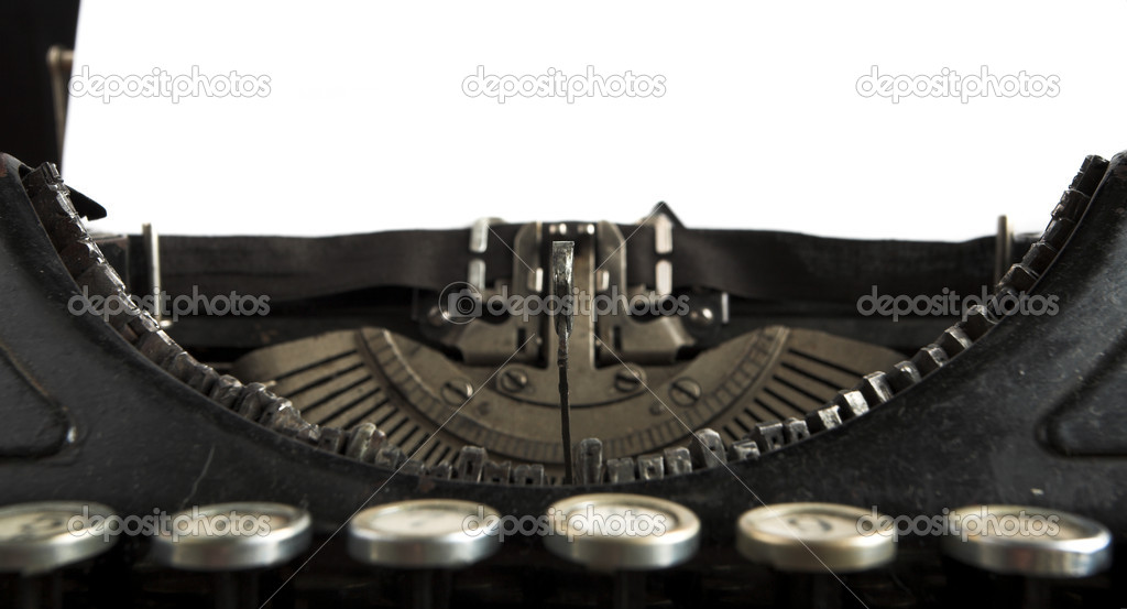 Keys and letter of old typewriter close-up — Stock Photo #1186520