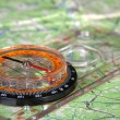 Royalty-Free Stock Photo: Map and compass