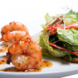 Appetizer with shrimps — Stock Photo