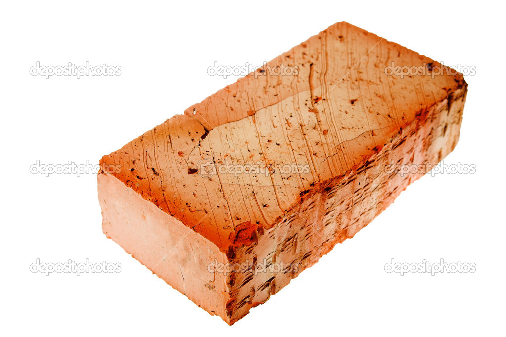 Red brick isolated on the white background  Stock Photo #1201061