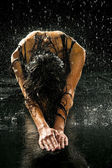 Wet woman — Stockfoto
