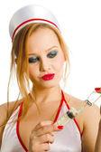 Seksualne pielęgniarka — Zdjęcie stockowe