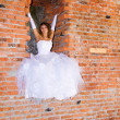 Bride in building site - Stock Photo