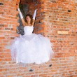 Bride in building site -  