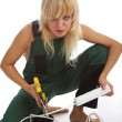 Beauty electrician — Stock Photo