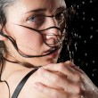 Wet girl portrait - Stock Photo