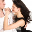 Young man embrace woman — Stock Photo