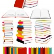 Stock Vector: Books collection