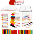 Books collection - Stockvectorbeeld