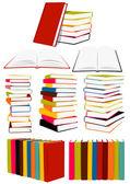 Colección de libros — Vector de stock