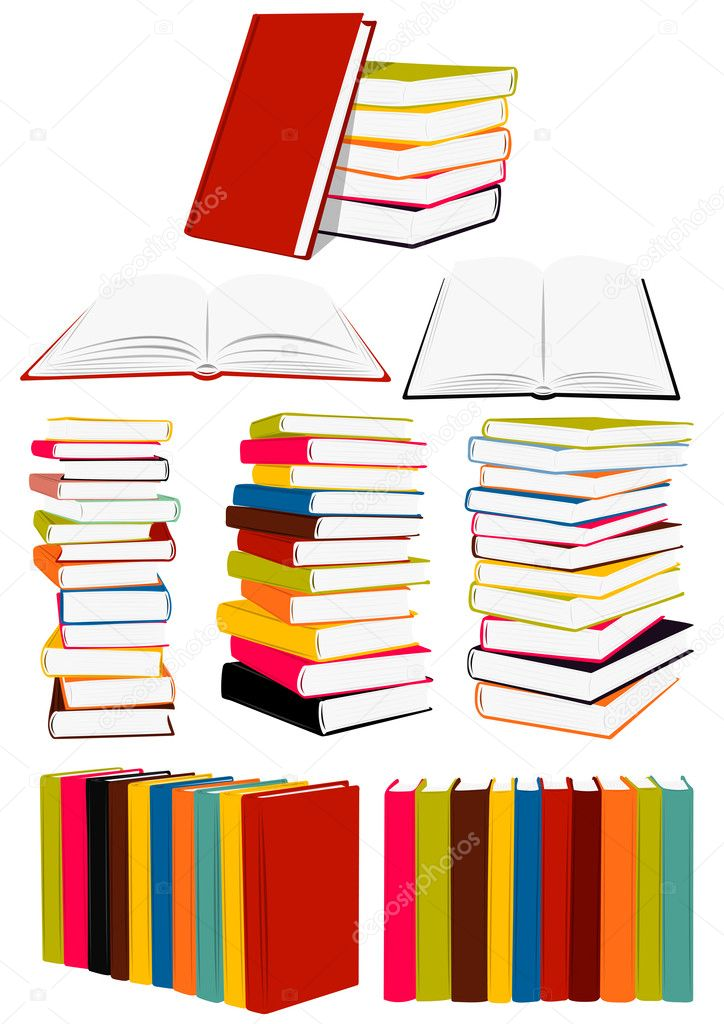Stack of books, presentation, collected works — Stock Vector #1171298