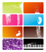 Grunge cards — Stock Vector