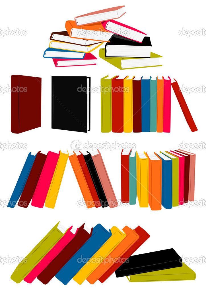 Stack of books, presentation, single book, collected works  Stock Vector #1947759