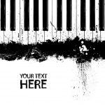 Grunge dirty piano keys — Stock Vector