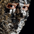 Stock Photo: Womwith foil