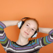 Stock Photo: Woman in headphones
