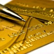 Gold bank card — Stock Photo