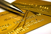 Gold bank card — Stock Photo