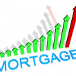 Stock Photo: Mortgage graph