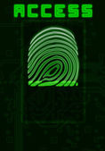 Finger-print background — Stock Photo