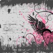 Vector de stock : Grunge heart background