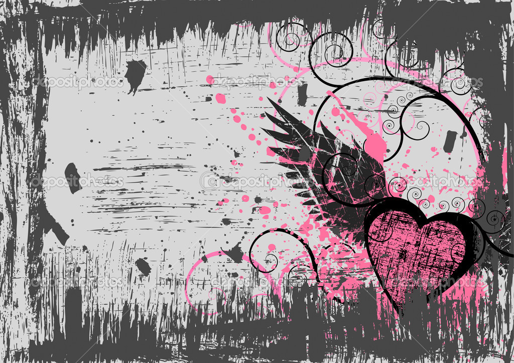 Dirty grunge heart abstract background — Vettoriali Stock  #1989119