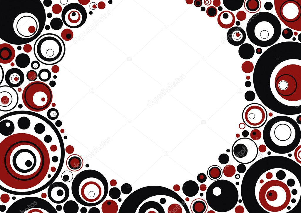 Framework from red and black circles, abstraction, background, vector — Stock Vector #1989289
